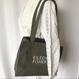 Eileen Fisher Canvas Tote - Gray